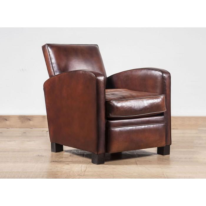 Fauteuil club Norman fauteuil club cuir de basane artisanal