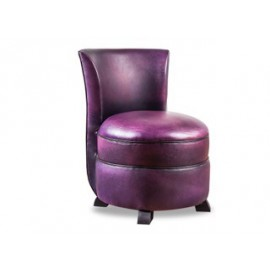 Chauffeuse cuir violette