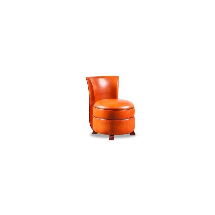 chauffeuse club cuir orange b jannin paris. Black Bedroom Furniture Sets. Home Design Ideas