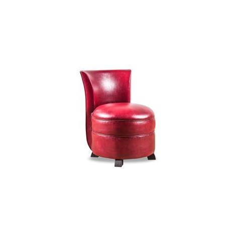 chauffeuse club cuir rouge vieilli. Black Bedroom Furniture Sets. Home Design Ideas