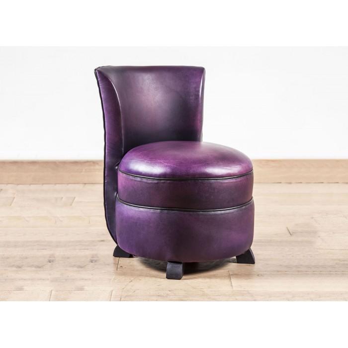 chauffeuse club cuir violette b jannin paris. Black Bedroom Furniture Sets. Home Design Ideas