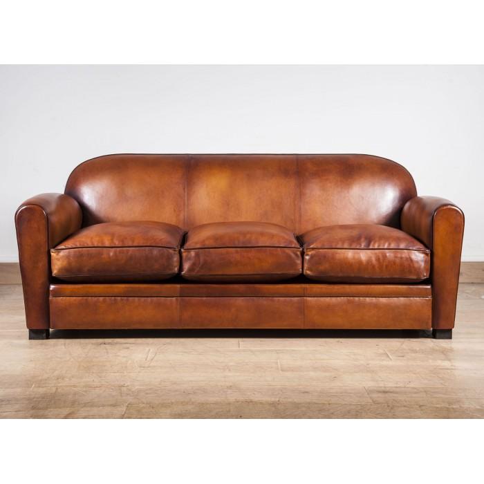 club sofa leather le bourbon 3 seater sofa french. Black Bedroom Furniture Sets. Home Design Ideas