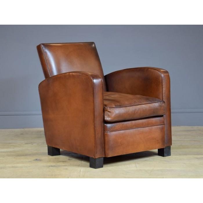 fauteuil club normandie fauteuil club cuir de basane artisanal b jannin paris. Black Bedroom Furniture Sets. Home Design Ideas