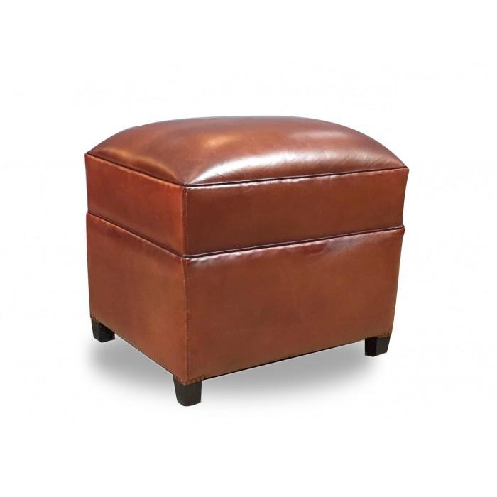 repose pieds club cuir rectangulaire b jannin paris. Black Bedroom Furniture Sets. Home Design Ideas