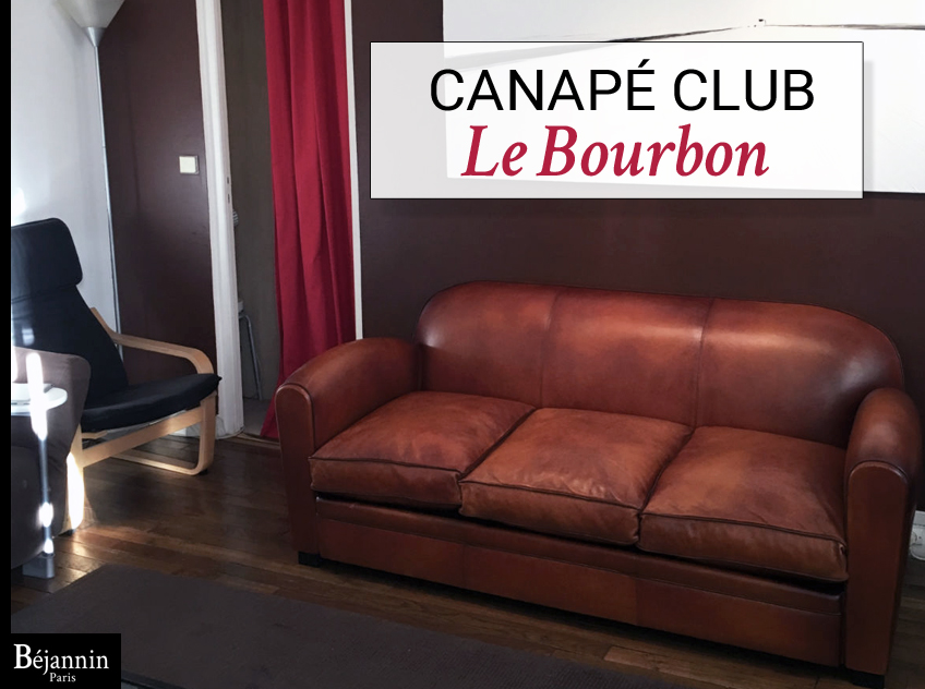 Canap club cuir 3 places le bourbon canap club cuir for Canape cuir club