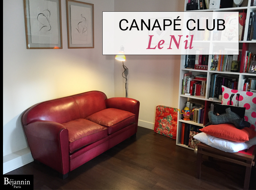 canap club 2 places le nil canap cuir club authentique. Black Bedroom Furniture Sets. Home Design Ideas