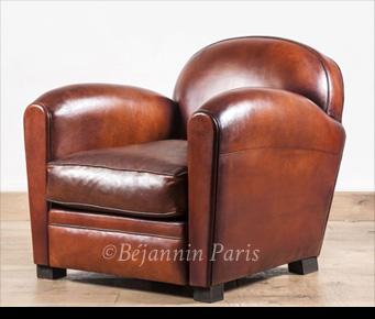 dc46beb9f78318 Fauteuil club cuir Bourbon   Béjannin Paris, fabricant fauteuil club ...