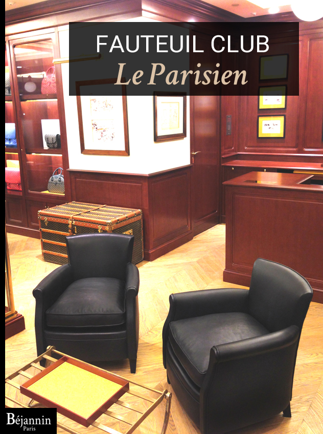 fauteuil club cuir le parisien b jannin paris. Black Bedroom Furniture Sets. Home Design Ideas