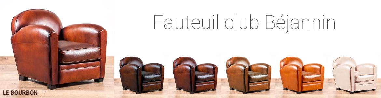 Fauteuil club marron en cuir
