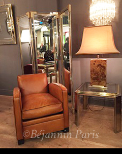 petit fauteuil club cuir pleine fleur le normandie b jannin paris. Black Bedroom Furniture Sets. Home Design Ideas