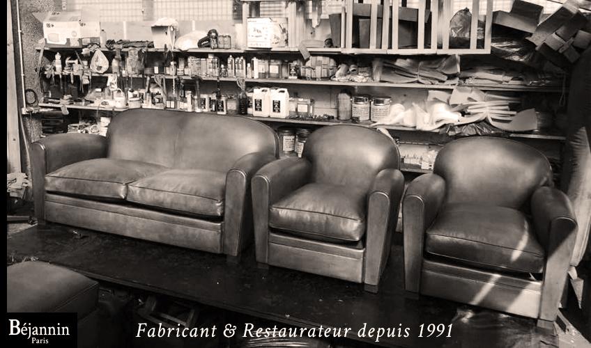 Véritable fauteuil club cuir